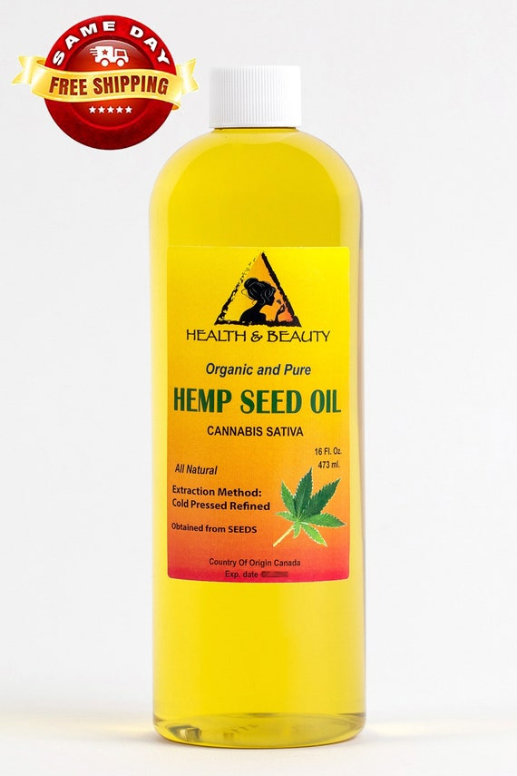 16 Oz Hemp Seed Oil Refined Organic Carrier Cold Pressed 100 Etsy