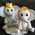 Peanut Elephant, Baby Elephant Topper, Elephant Boy, Elephant Cake Topper, Elephant Baby Shower, Elephant for Cake, Cute Elephant with Crown