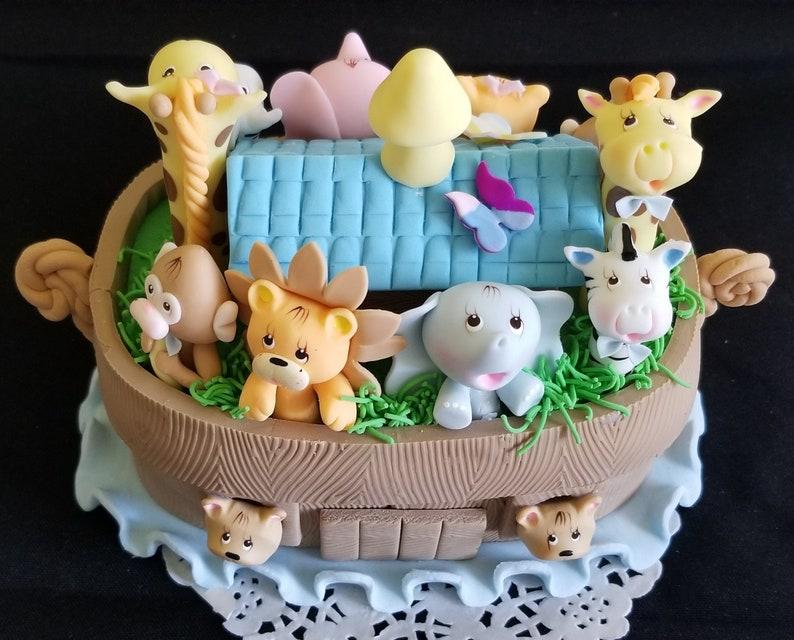 Noah's Ark Cake Topper Noah's Ark Birthday Noahs Ark   Etsy