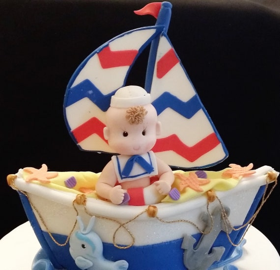 Nautical Birthday Sailor Cake Topper Sailor Birthday Etsy