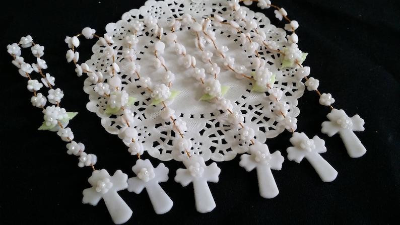 Girls Baptism Rosaries Mini Rosary Baptism Favors 36 White Mini Rosaries Boy Baptism Rosaries Baptism Rosaries Baby Girl Baptism Favors