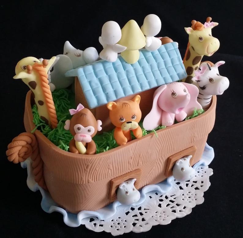 Noah's Ark Cake Topper Noah's Ark Figurine Noahs Ark   Etsy