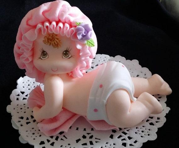 Baby Girl Figurine Baby Shower Cake Decoration Baby Cake Etsy