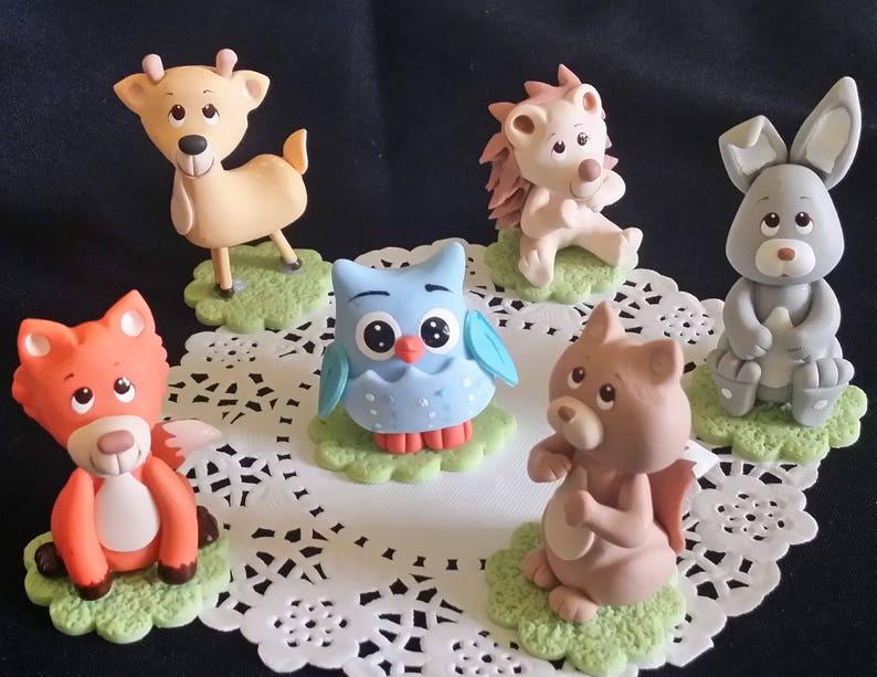 Pleasant Forest Baby Shower Woodland Cake Topper Forest Friend Etsy Funny Birthday Cards Online Amentibdeldamsfinfo