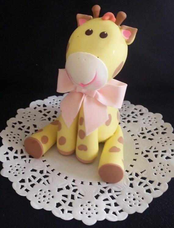 Giraffe Cake Topper Jungle Cake Topper Baby Giraffe Baby Etsy