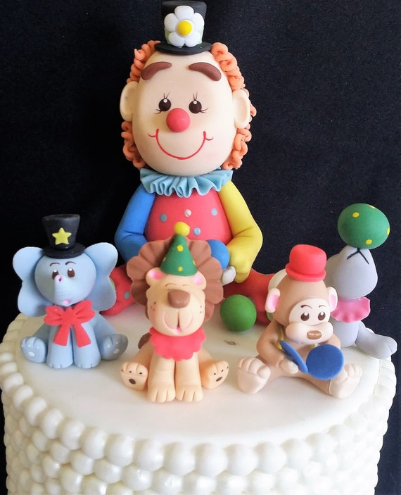 Circus Party Circus Cake Topper Circus First Birthday Etsy