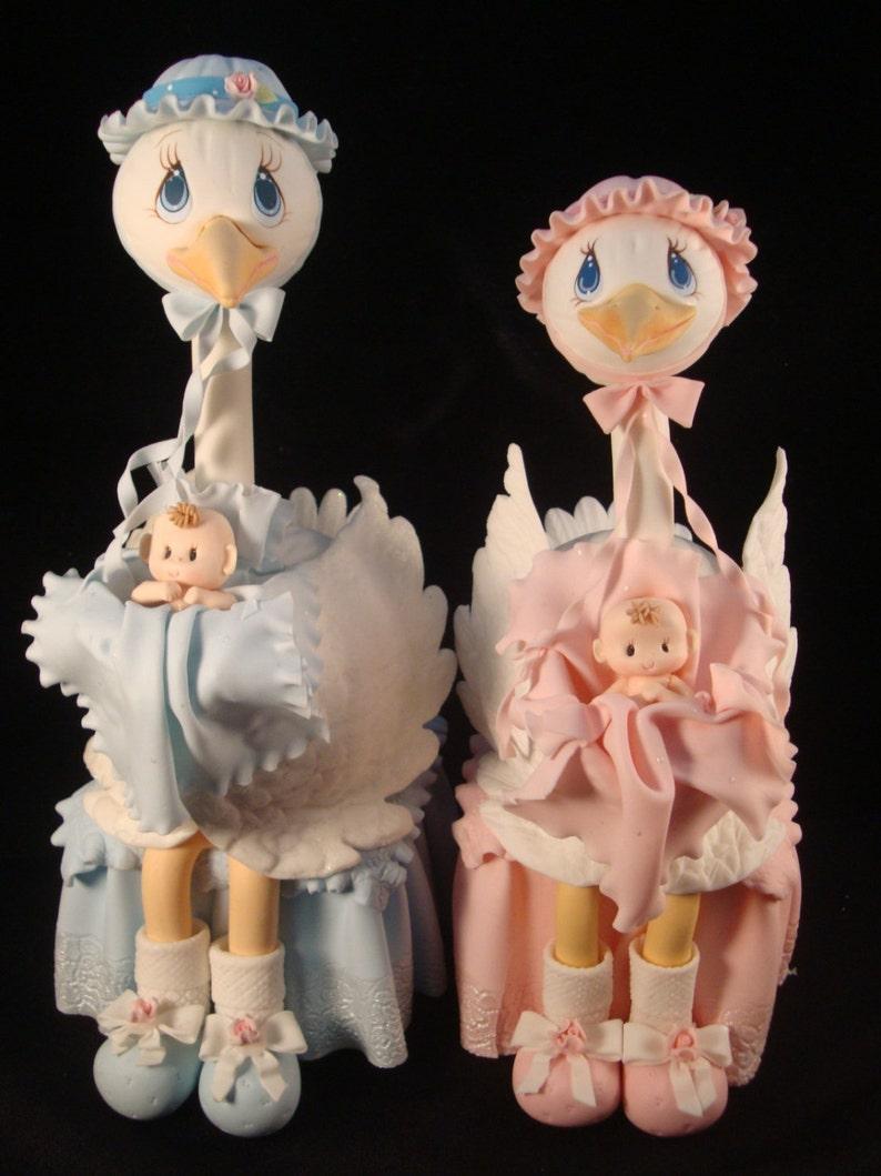 Mommy Stork For Cake Girl Baby Shower Gender Reveal Cake Topper Baby Shower Stork Pink Baby Shower Stork Decorations Boys Baby Shower