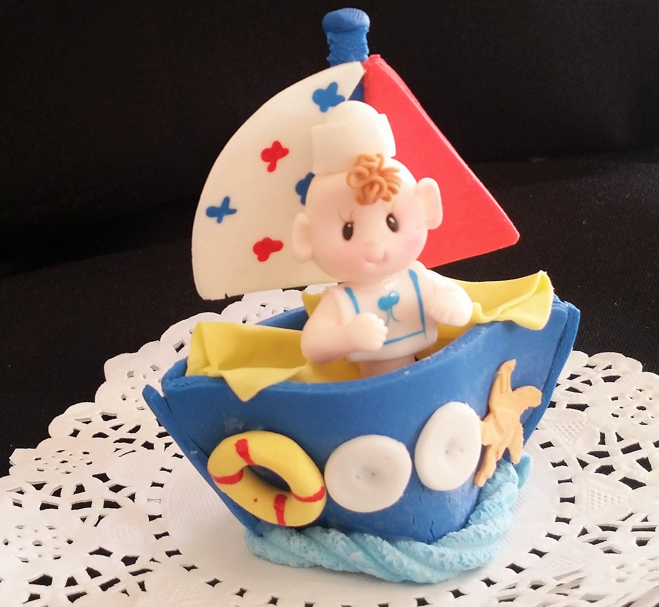 Twin Baby Shower Cake Toppers: Nautical Cake Topper Twins Baby Shower Sailor Cake Topper