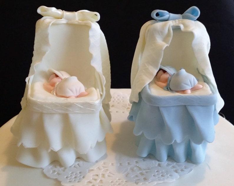 Baptism Cake Topper Baby Girl Cake Topper Baby Shower Decoration Baby on a Bassinet Baby Girl Cake Decoration Baby Shower Cake Topper