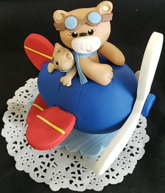 Excellent Pilot On Airplane Cake Topper Baby Piolot Cake Topper Air Etsy Funny Birthday Cards Online Alyptdamsfinfo