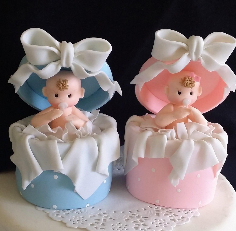 Baby Girl Cake Topper Baby Boy Cake Topper Baby Shower Cake Etsy