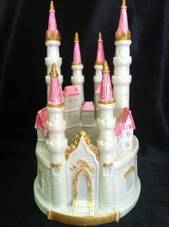 Princess Birthday Cake Blue And Silver Castle Little