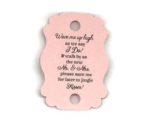 Gold Foil Tags Wand Send off Tags 2.25 Ribbon Wand Favor Tags Wedding Tags Ribbon Wand Tags Blush Navy Cream Burgundy Fuchsia +