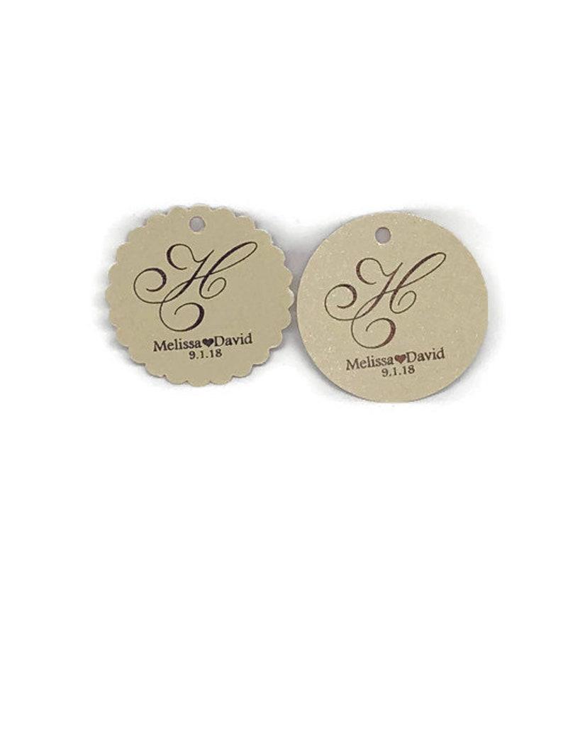 1.5 Monogram Foil Wedding Tags Favor Tags for Weddings Monogram Wedding Tags Gold Foil Tags Wedding Favor Tags Wedding Tags