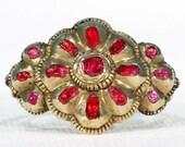 Rare Iberian 18th Century Ruby Spinel Ring 14k Gold