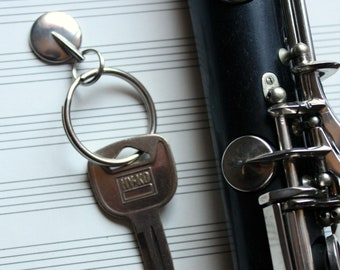Clarinet Key Key Chain - Recycled Musical Instrument