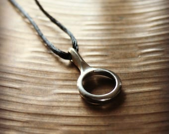 Recycled Clarinet Key Silver Circle Pendant