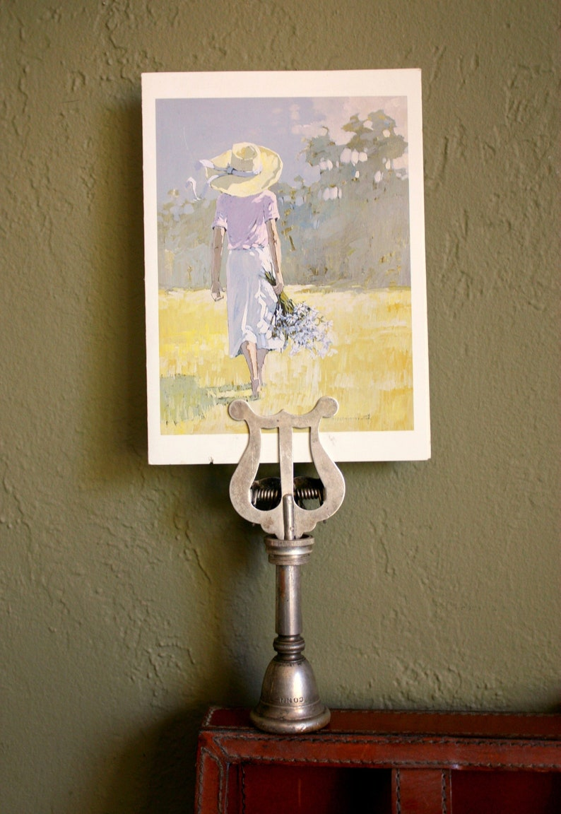Marching Band Lyre and Trombone Mouthpiece Card or Photo Holder - Recycled  Musical Instrument Parts