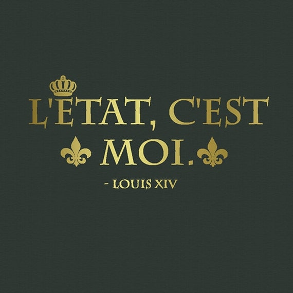 L Etat C Est Moi.Wall Decal Quotes Louis Xiv Quote L Etat C Est Moi With Fleur De Lys French Quote Removable Wall Decals 22inch