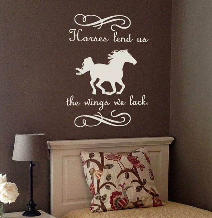 wall decal quote horse decal with quote horses lend us the | etsy