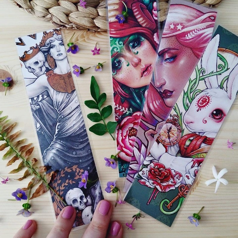 3 BOOKMARKS pack    20x5cm/ 8x2 approx  Laminated image 0