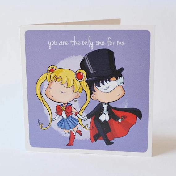 Geeky Romance Card Sailor Moon Romance Design Sweet Nerdy Valentine Proposal Anime Magical Girl Senshi Love