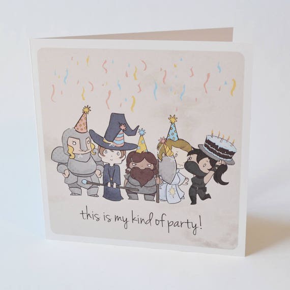 Geeky Birthday Card My Kind Of Party Design Sweet Nerdy Etsy