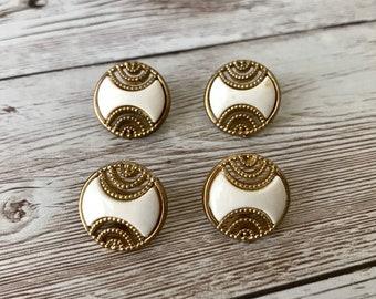 13mm. set Vintage Brushed bronze Metal Buttons Eyes Black drop Craft DIY 10mm