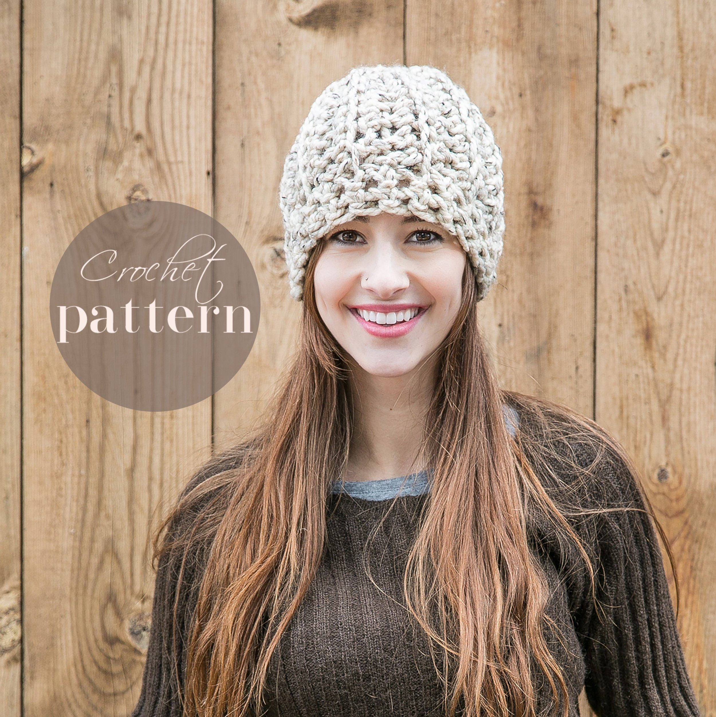 Crochet Hat Pattern Diy Crochet Patterns Beginning Skill Etsy