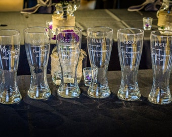Personalized Tall Beer Glasses by Peak Engraving