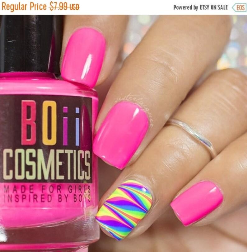 Pink nail polish neon nail polish Engineer Pink | Etsy