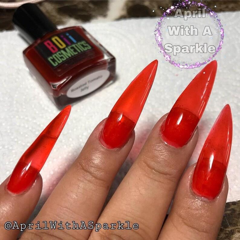 Jelly Nails, Jelly nail polish , Roasted Tomato Jelly