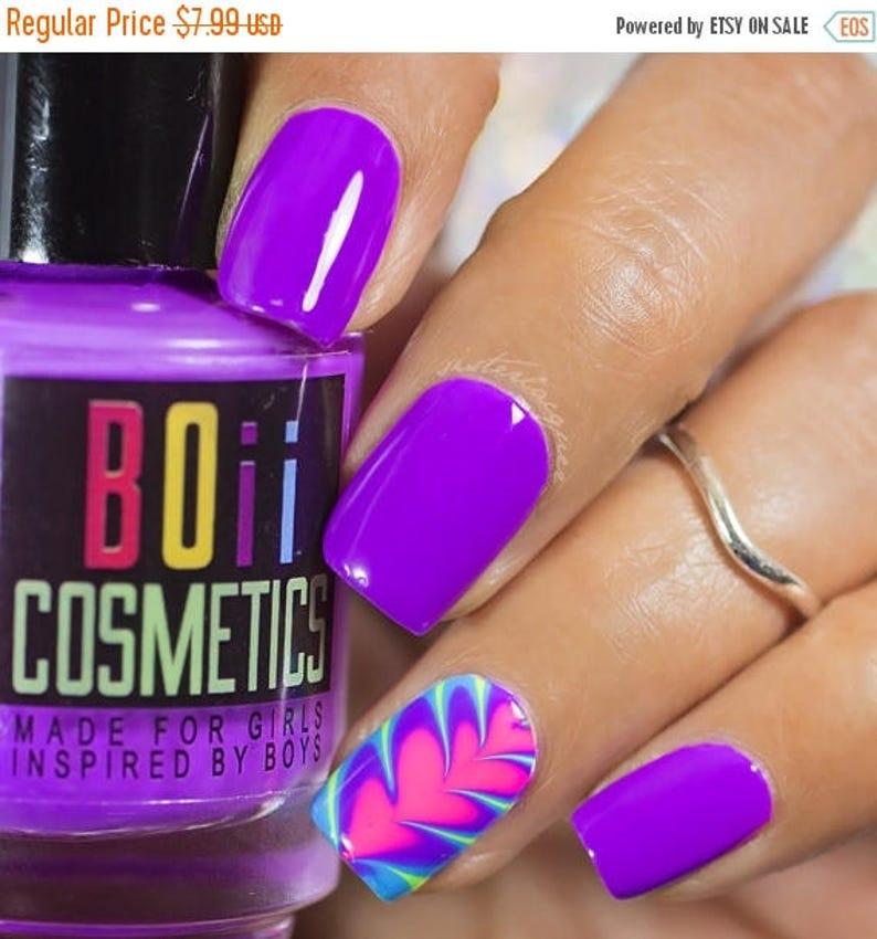 Purple nail polish neon nail polish Architecture Purple | Etsy