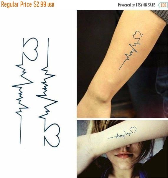 Produkty Podobne Do Na Sprzedaż Serce Miłość Linia Tatuaże