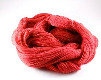 Hand Dyed Yarn - Unraveled Fingering - Blood Orange