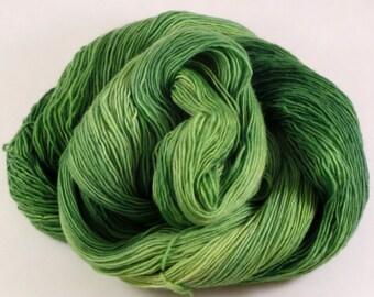 Hand Dyed Yarn - Unraveled Fingering - Caterpillar