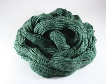 Hand Dyed Yarn - Unraveled Fingering - Viridian
