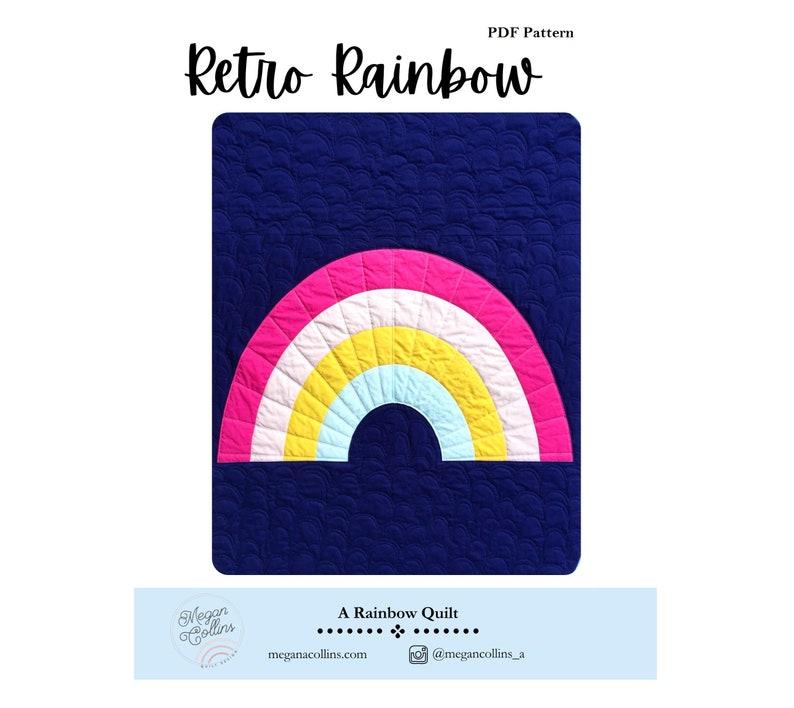 PDF Retro Rainbow Quilt Pattern by Megan Collins // Beginner image 0
