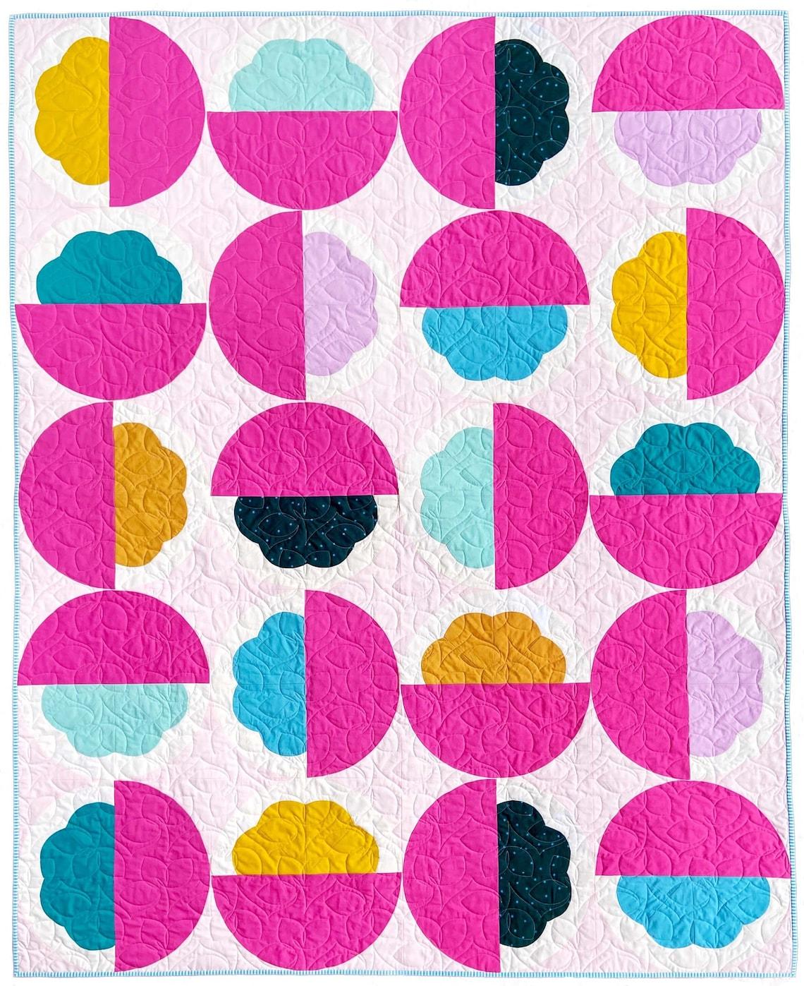 PDF Blossom & Bloom Quilt Pattern by Megan Collins Modern image 1