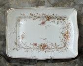 16 quot x 11 1 2 quot Antique Henry Alcock Co Rectangular Serving Platter Cobridge England Semi-Porcelain A.G. 1891-1910