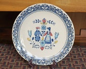 10 quot Dinner Plate Hearts and Flowers Johnson Brothers Eight (8) Available England Old Granite Staffordshire Ironstone