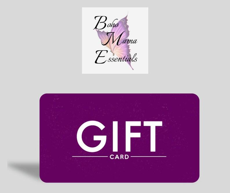 50 Dollar Gift Card for Boho Mama Essentials