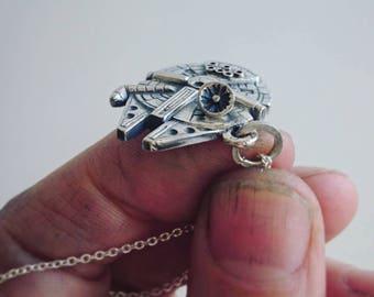 The Millennium Falcon silver pendant