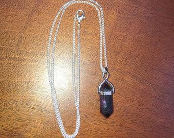 Fluorite necklace ~Fluorite pendant ~Fluorite point ~Fluorite