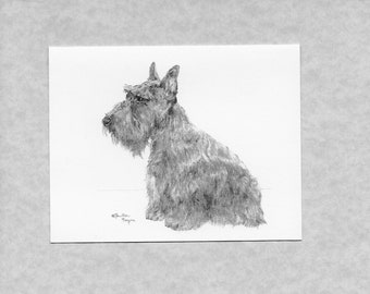 Skye Terrier Dog Zeppa Studios Fur Children Note Cards Set of 8