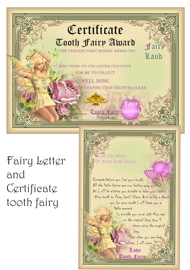 Personalised New Baby Girls Enchanted Letter Frames Gift Fairy Butterfly Unicorn