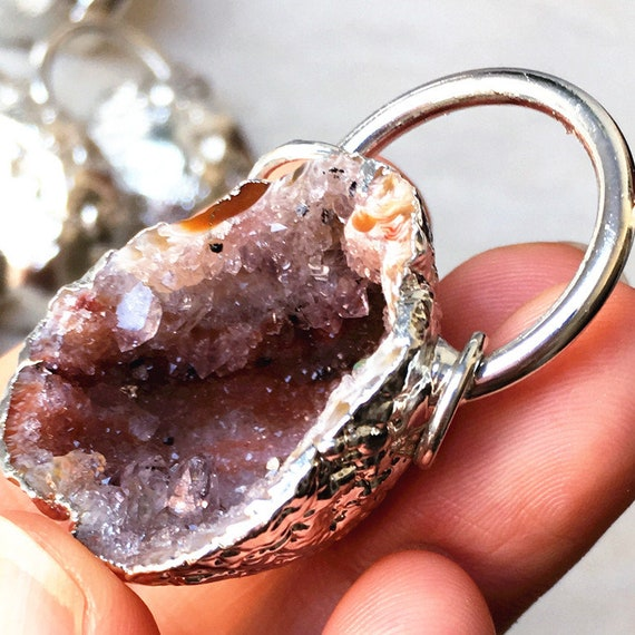 red agate druzy Agate necklace red ready to ship gifts under 20 agate geode geode agate pendant red agate geode geode necklace red
