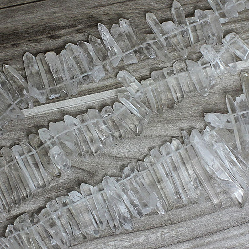 Natural rock crystal quartz points high quality clear crystal image 0