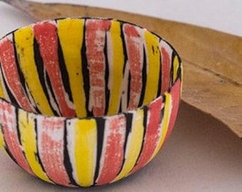 Striped Porcelain bowl