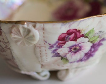 Memento Bowl - Pink and Purple flowers